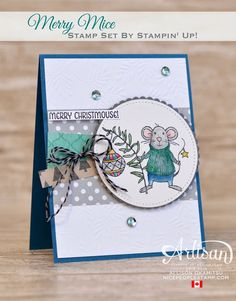 nice people STAMP!: Merry Mice Christmas Card by Canadian Stampin' Up! Demonstrator Allison Okamitsu. www.NicePeopleStamp.com