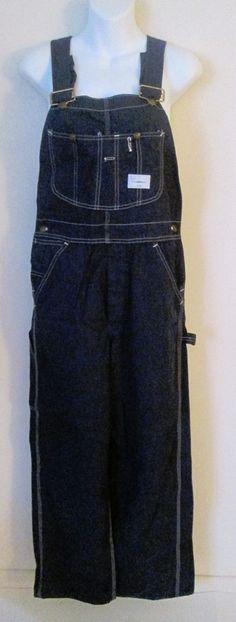 Sears Tradewear Denim Bib Overalls 30 x 31 Button Fly Carpenter Union Made #SearsTradewear #Overalls
