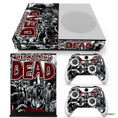 Xbox One S Console Skin Decal Sticker The Walking Dead + 2 Controller Skins Set…