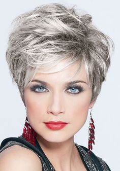 Grey Granny Hair Wigs Layered Boycuts To - Hair Beauty Grey Hair Gel, Short Grey Hair, Short Hair With Layers, Short Hair Cuts For Women, Short Hairstyles For Women, Layered Hair, Frontal Hairstyles, Wig Hairstyles, Hairstyles Over 50