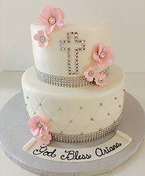 Christening Cake   bling   Gallery   Sugar Divas Cakery   Orlando   Cupcakes   Custom Cakes