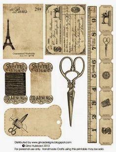 Imprimolandia: Papel de oficina vintage