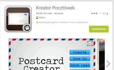 KREATOR POCZTÓWEK  https://play.google.com/store/apps/details?id=com.menueph.tool.postcards
