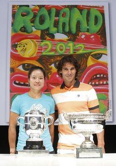 Rafael Nadal and Li Na at the 2012 French Open draw!