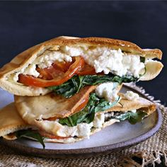 Middle Eastern-Inspired Grilled Cheese with Spinach and Feta