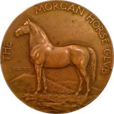 [173]Morgan Horse Club Medal by Laura Gardin Fraser (1923)