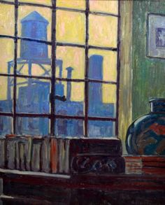 """""""View From The Window,"""" Allen Tucker, ca. 1920, oil on canvas, 24 x 20"""", private collection."""