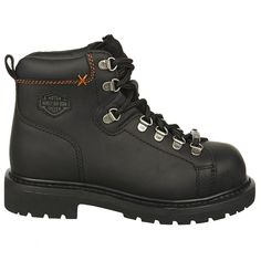 Harley Davidson Women's Gabby Steel Toe Work Boots (Black Leather)