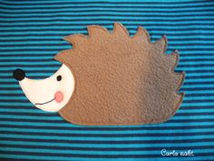 Igel - Applikationsvorlage kostenlos Applique Freebie free Hedgehog Carla näht.