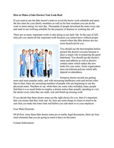 HttpsScubaWorksCom How To Make A Fake DoctorS Note