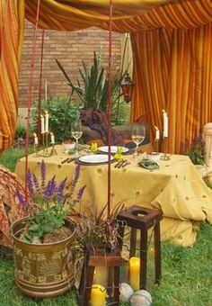 omg, love this.  dinner in the garden