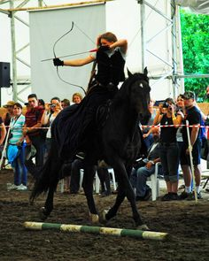Mounted archery competition