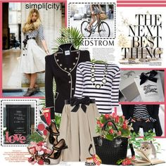 A fashion look from March 2012 featuring By Malene Birger sweaters, Moschino Cheap & Chic jackets and Carven skirts. Browse and shop related looks.
