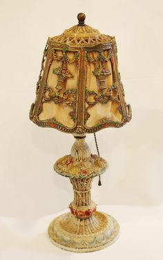 old barbola lamp