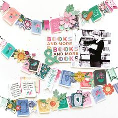 I had a ton of fun fussy cutting all the books and flowers and making this page! I used Oh My Heart by Paige Evans & Pink Paislee! Love Scrapbook, Project Life Scrapbook, Scrapbook Journal, Scrapbook Page Layouts, Travel Scrapbook, Scrapbook Paper Crafts, Journal Cards, Scrapbook Cards, Scrapbooking Ideas