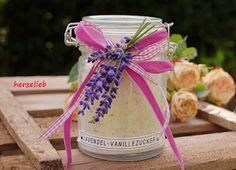 Lavendel-Vanille-Zucker.