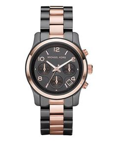 Michael Kors Watch, Women's Chronograph Two Tone Stainless Steel Bracelet 39mm MK5482 on sale at Macy's