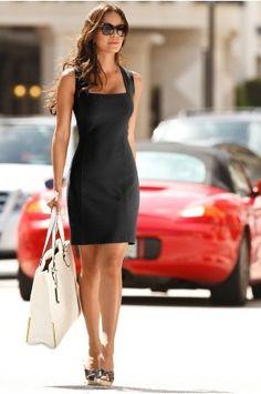 vestido negro basico