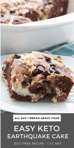 Low Carb Keto, Low Carb Recipes, Healthy Cake Recipes, Healthy Food, Keto Cake, Keto Cheesecake, Earthquake Cake Recipes, Ketogenic Desserts, Ketogenic Diet