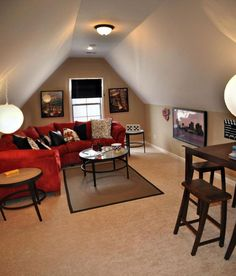 Image result for small tv and game room ideas