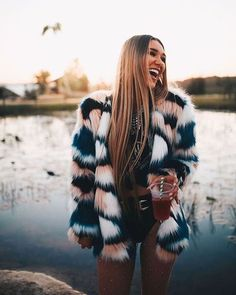 Sable Fur Coat Multi Blush – Beginning Boutique