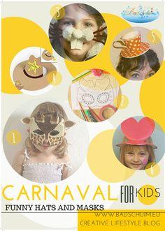 Carnaval for kids_funny hats en masks_blog badschuim.eu