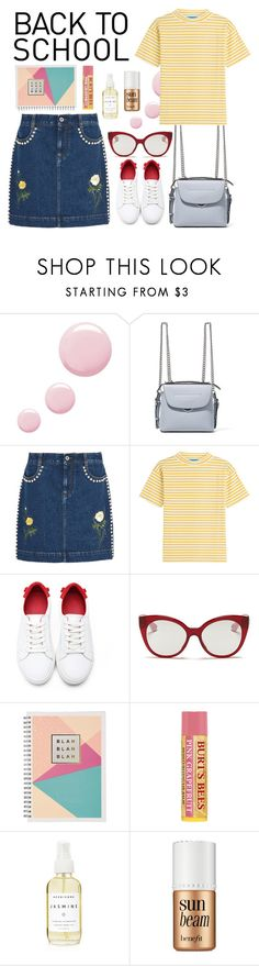 """back to school 2"" by wondrousbeing ❤ liked on Polyvore featuring Topshop, Fendi, STELLA McCARTNEY, M.i.h Jeans, Miu Miu, Burt's Bees, A Weathered Penny and Benefit"