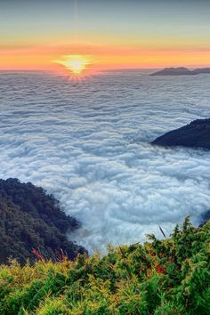 Sunset Over Sea of Clouds