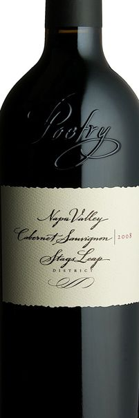 Cliff Lede 2008 Poetry Cabernet Sauvignon.  Saving for our son's graduation from college (May 2012)!