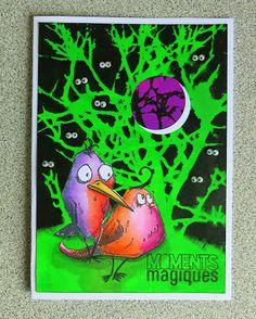 Les idées de Magouille: Bird crazy et les peintures Dylusions chez Scrapbook Tendance