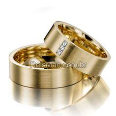 Par de Alianças Esplanada ♥ Casamento e Noivado em Ouro 18K