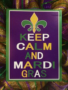 Mardi Gras Wreath by HighMaintenanceDes on Etsy