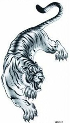 Grashine long last temporary tattoos Fiercely tiger look like real temporary tattoo stickers. Tattoo size : 21*10.5cm (8.27 X 4.13 inches). Extremely realistic temporary tattoos that look exactly like a real tattoos.rn. These temporary tattoos are 100% waterproof and long lasting...for up to 5 days, even while swimming & bathing.rn. Precut tattoos dab on with water in seconds, brush with your skin-toned face powder to set.rn. Temporary Tattoos are very easy to apply in just 10 seconds...