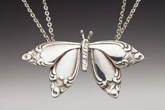 Butterfly Spoon Necklace by Silver Spoon