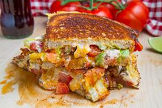 Grilled Cheese heaven! Serve with guac on the side and dig in........ Taco Grilled Cheese Sandwich