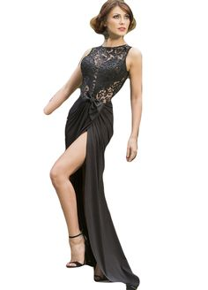 1f45b6196244 Keyhole Back Floral Mesh Top Ruched Slit Party Dress Out Of Stock Sexy  Lingeire. Fashion Collection Online