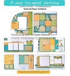 Footloose Paper - CTMH 10 pages Scrapbook Workshop