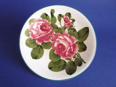 Wemyss Ware 'Cabbage Roses' Cake Plate c1910