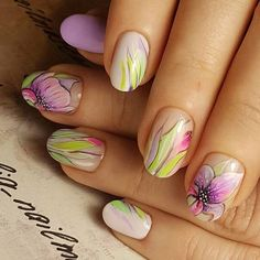 Looking for easy nail art ideas for short nails? Look no further here are are quick and easy nail art ideas for short nails. Cute Spring Nails, Spring Nail Colors, Spring Nail Art, Nail Art Design Gallery, Best Nail Art Designs, Nail Designs Spring, Easy Nail Art, Cool Nail Art, Nail Design Games