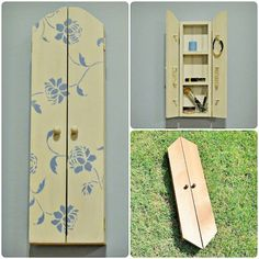A Cab Rehab! A One Artsy Mama reader crafted this adorable cabinet using our Peony Allover Stencil. Give her a 'Like' for creativity!    Add your own pretty Peony Stencil... http://www.cuttingedgestencils.com/flower-stencil-damask.html