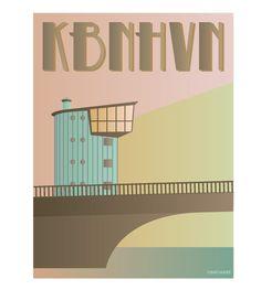 KBNHVN - Langebro – Vissevasse (Er lidt ked af de manglende vokaler -det er lidt so ladt decade, men ellers fine farver)