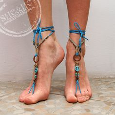 hand made barefoot , anklets, macrame jewelry