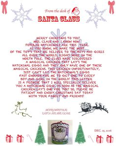 Personalized Letter From Santa Perfect To Explain Not Being Able