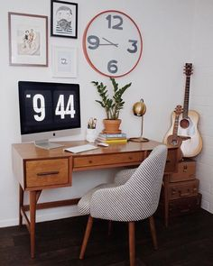 Clear the clutter from your workspace with some inspiration from @newdarlings' retro chic #LTKhome office set up | Shop the post with www.LIKEtoKNOW.it | www.liketk.it/1Xsxd #liketkit by liketoknow.it