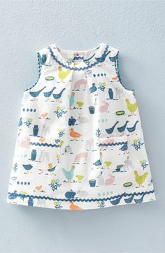 Mini Boden Retro Print Corduroy Pinafore (Baby Girls & Toddler Girls) available at #Nordstrom Darling Dress made of 100% Cotton with 100% Cotton Lining to keep your little sweetheart cool and comfy this summer.