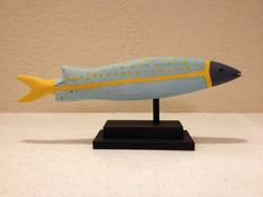 Folk Art Fish in blue