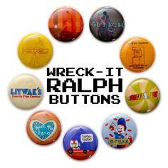 "Wreck-It Ralph Inspired 1"" Buttons"