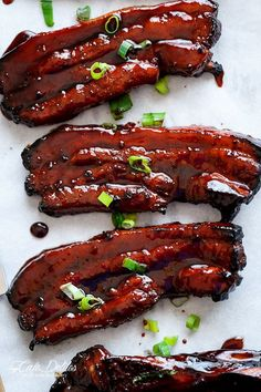 Sticky Chinese BBQ Pork Belly Ribs (Char Siu). Try with our smooth and fruity Bota Pinot Noir.