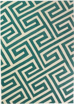 Key Turquoise by Suzanne Sharp for The Rug Company