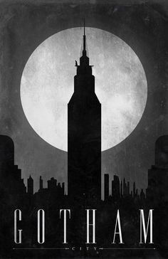 https://flic.kr/p/8ZbEXW | Gotham | A new set of travel posters that concentrate on different comic book locations.   Prints: JustinVG.imagekind.com/ComicTravelLocations